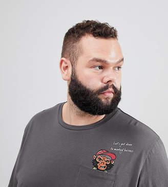 Jack and Jones Originals PLUS T-Shirt With Pocket Print