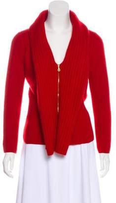 Oscar de la Renta Cashmere Zip-Up Sweater