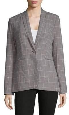 Tommy Hilfiger Long Sleeve Plaid Suit Jacket