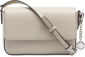 DKNY Saffiano Leather Bryant Flap Crossbody