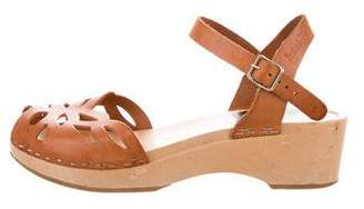 Swedish Hasbeens Leather Cutout Sandals