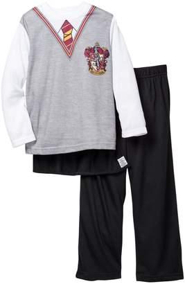 Intimo Harry Potter Gryffindor Long Sleeve Cape Pajama Set (Little Boys & Big Boys)