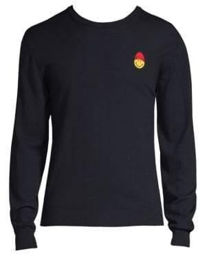 Ami Smiley Merino Wool Sweater