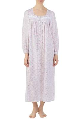 Eileen West Cotton Button Front Nightgown