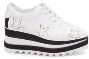 Stella McCartney Elyse Metallic Star Sneaker Wedges
