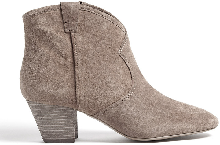 Ash Vision Spiral Suede Ankle Boots