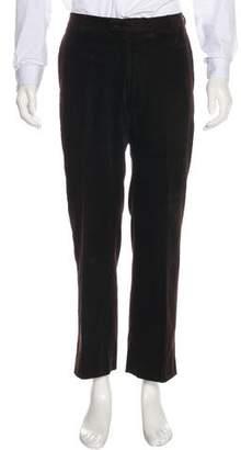 Burberry Flat Front Corduroy Pants