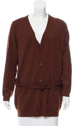 Dries Van Noten Belted Wool Cardigan
