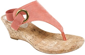 aac324a4101 White Mountain Wedge Thong Sandals - Aida