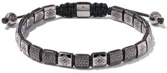 Black Diamond Shamballa Jewels 18kt white gold & Lock bracelet