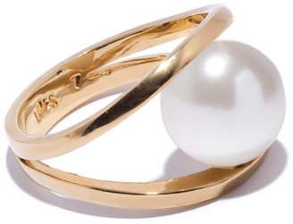 "Lele Sadoughi Pearl Ring ""Pebble"""