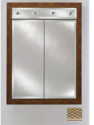 Afina Corporation DD-LC3140RELGSV 31x40 Contemporary Integral Lighted Double Door - Elegance Silver