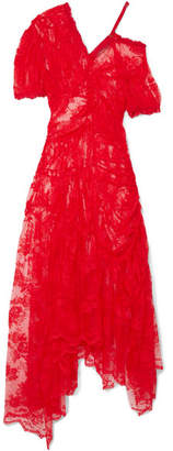 Preen by Thornton Bregazzi Tessie Lace Midi Dress - Red