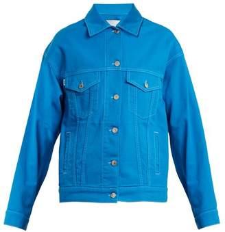 MSGM Oversized Denim Jacket - Womens - Blue