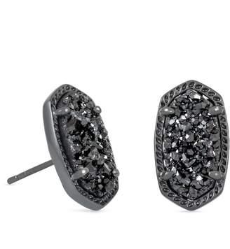 Kendra Scott Ellie Stud Earrings in Black Drusy
