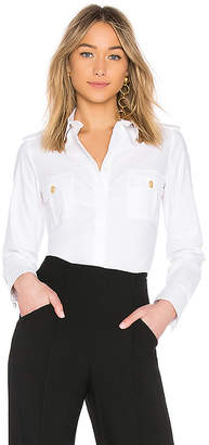Pierre Balmain Double Pocket Button Down Top