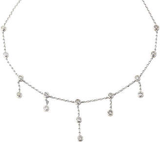 One Kings Lane Vintage 14K Gold & Diamond Necklace - Owl's Roost Antiques