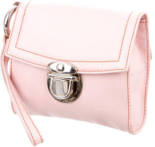 Marc Jacobs Marc Jacobs Pink Leather Wristlet