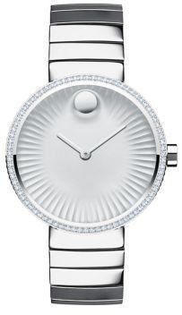 Movado Movado Edge Diamond & Stainless Steel Bracelet Watch $1,695 thestylecure.com