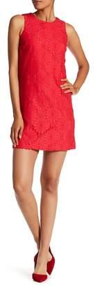 Cynthia Steffe CeCe by Arlington Sleeveless Castuc Lace Shift Dress