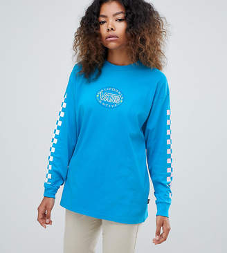 Vans Exclusive Blue Archive Checkerboard Long Sleeve T-Shirt