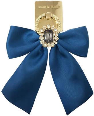 Maison de Fleur (メゾン ド フルール) - Maison de FLEUR ・受注限定Blueビジューリボンスマホリング