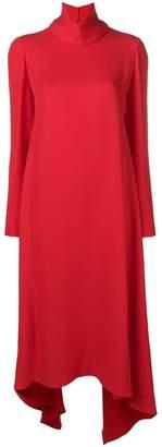 Valentino funnel neck maxi dress