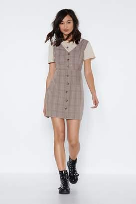 Nasty Gal Square Off Plaid Dress