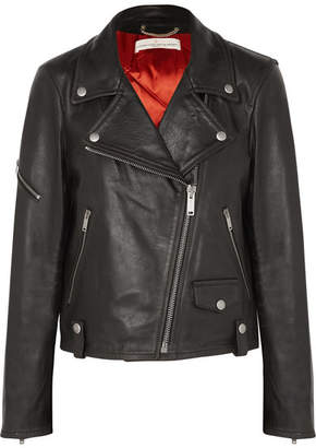 Golden Goose Chiodo Textured-leather Biker Jacket - Black
