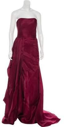 Rubin Singer Strapless Draped Gown