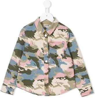 Zadig & Voltaire Kids camouflage denim shirt