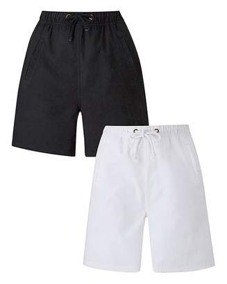 Fashion World Pack of 2 Woven Shorts
