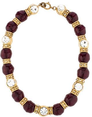 ChanelChanel Crystal & Gripoix Bead Collar Necklace
