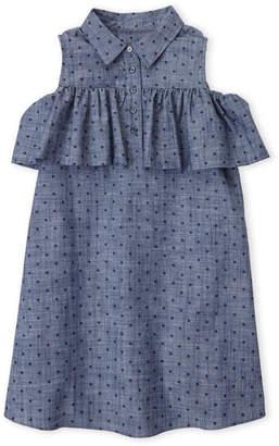 Kate Spade Girls 7-16) Cold Shoulder Chambray Dress