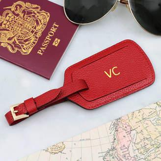 bc64014b440f Hurleyburley man Luxury Italian Leather Personalised Luggage Tag