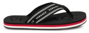 Versace Logo Embossed Thong Sandals