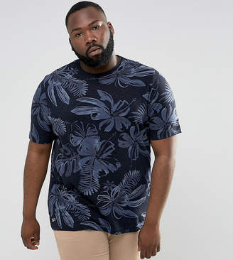 Tommy Hilfiger Plus Igy T-Shirt Flower Print Regular Fit In Navy
