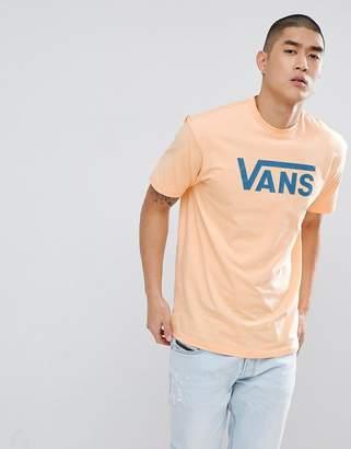 Vans Classic Logo T-Shirt In Orange V00GGGPF0