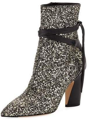 Jimmy Choo Henrietta Glitter Star Booties