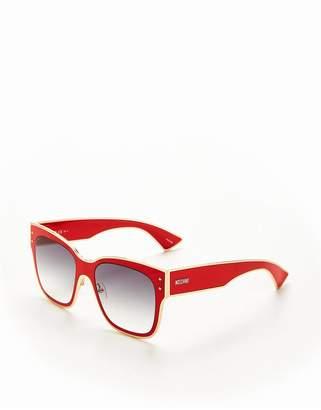Moschino Square Sunglasses - Red