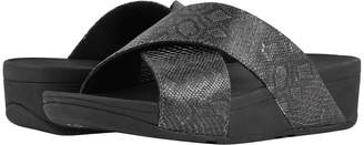 FitFlop Lulu Python Print Slide Sandals Women's Shoes