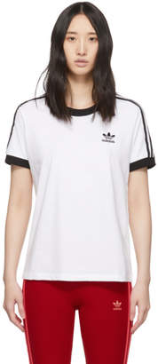 adidas White 3-Stripes T-Shirt