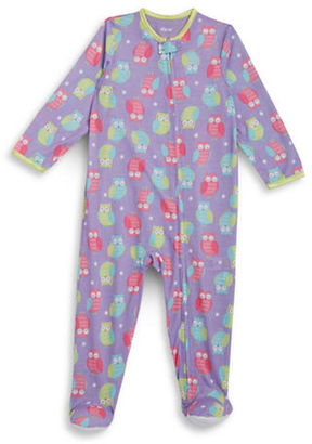 Little Me Baby Girls Owl Print Footie $20 thestylecure.com