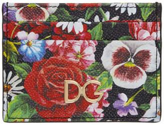 46718360385 Dolce & Gabbana Multicolor Floral Print Card Holder