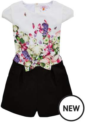 Ted Baker Girls Bow Detail Playsuit