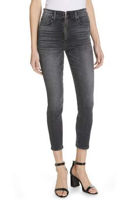 Alice + Olivia AO.LA by Good Exposed Zip Ankle Skinny Jeans