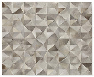 Design Within Reach Diamond Cowhide Rug, Grey/Brown