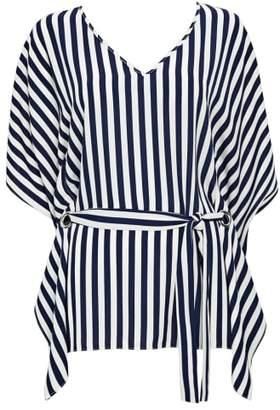 Wallis Stripe Belted Top