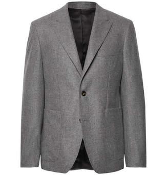 Privee SALLE Anthracite Lloyd Mélange Wool-Flannel Suit Jacket