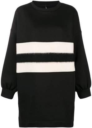 Pierantonio Gaspari Pierantoniogaspari double contrast stripe sweatshirt dress